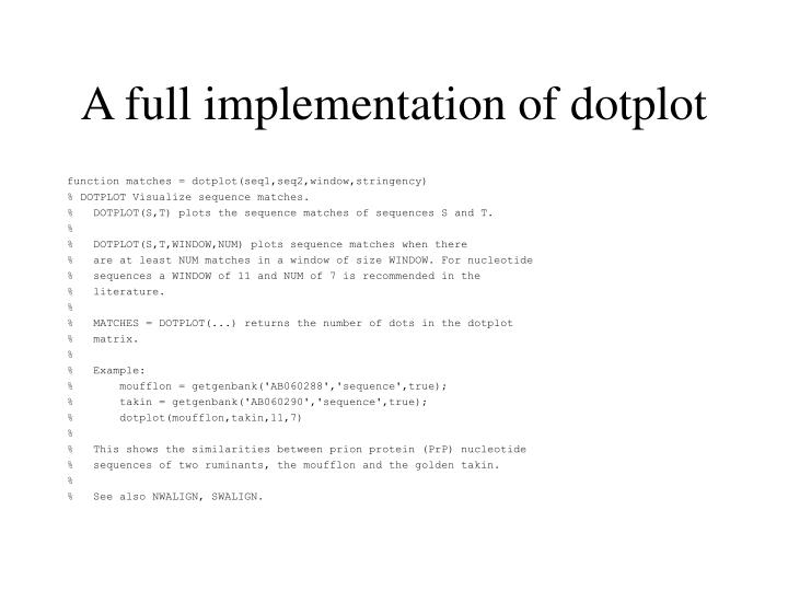 A full implementation of dotplot