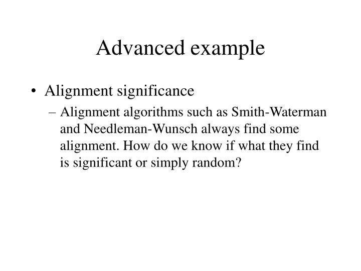 Advanced example