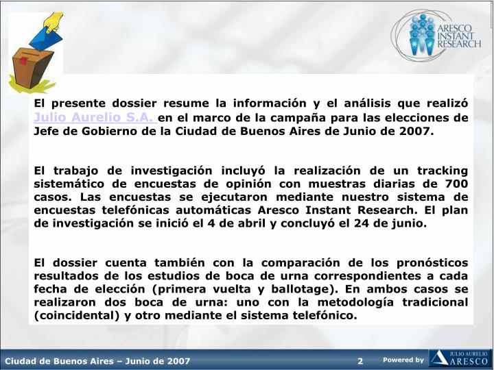 El presente dossier resume la información y el análisis que realizó
