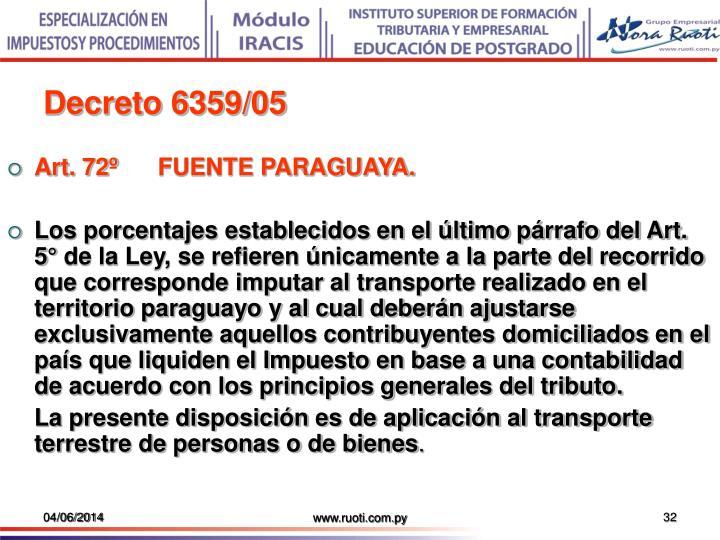 Decreto 6359/05