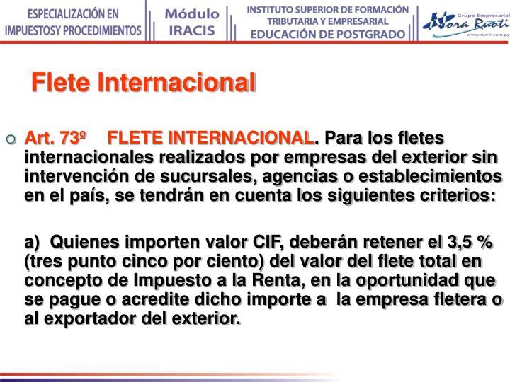 Flete Internacional
