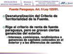fuente paraguaya art 5 ley 125 91