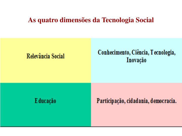 As quatro dimensões da Tecnologia Social