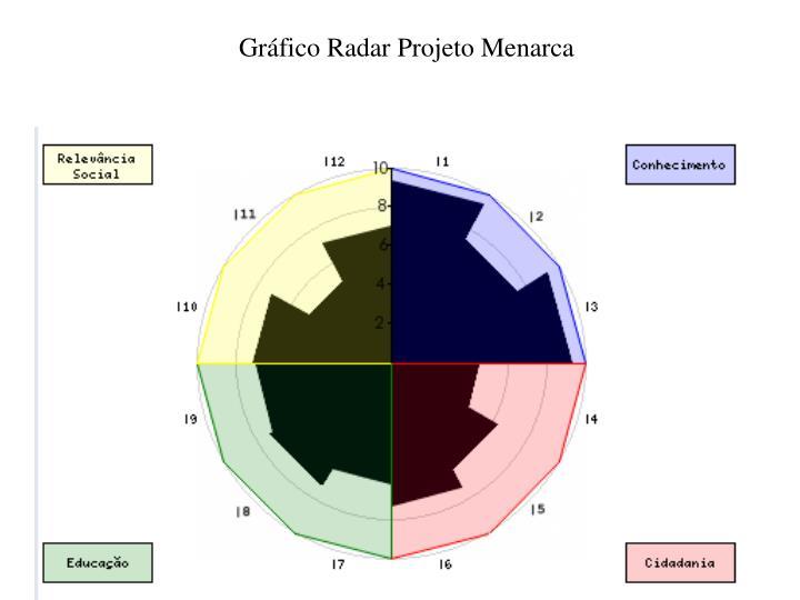 Gráfico Radar Projeto Menarca