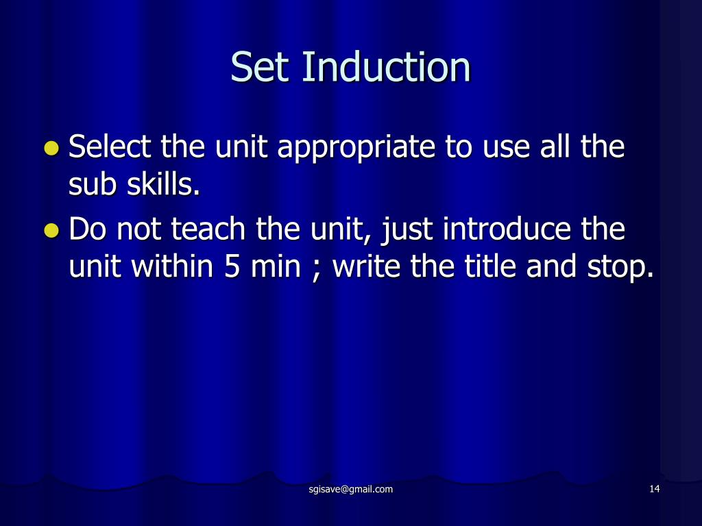 Set Induction