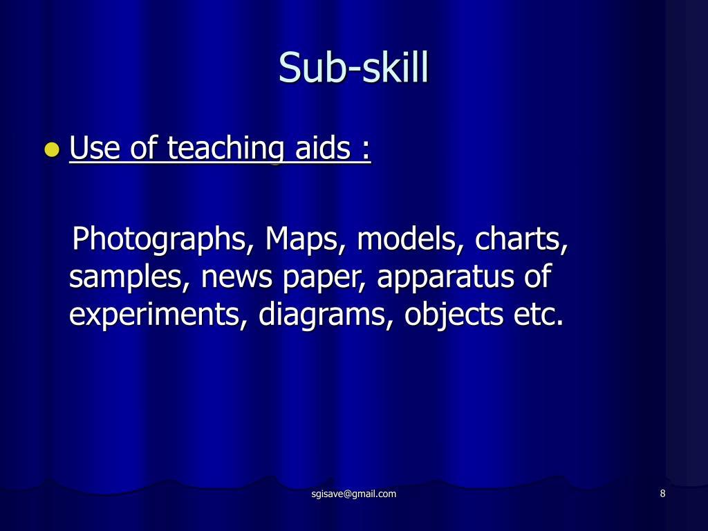 Sub-skill