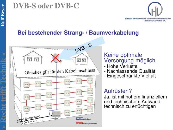 DVB-S oder DVB-C