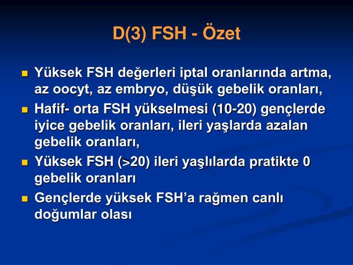 D(3) FSH - Özet