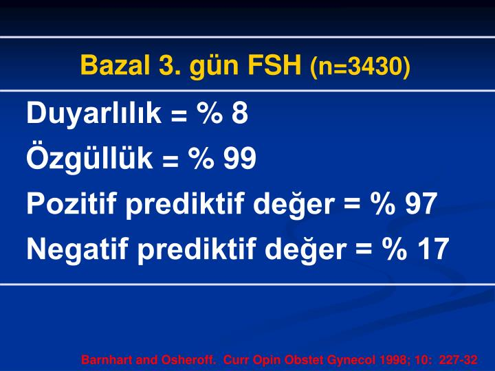 Bazal 3. gün FSH