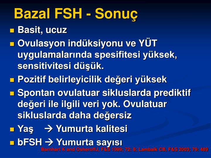 Bazal FSH