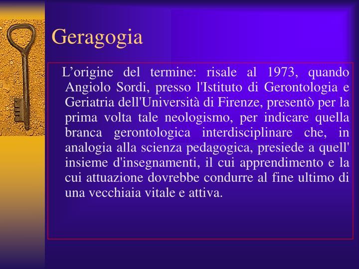 Geragogia