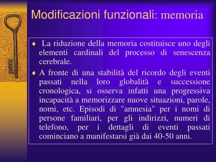 Modificazioni funzionali