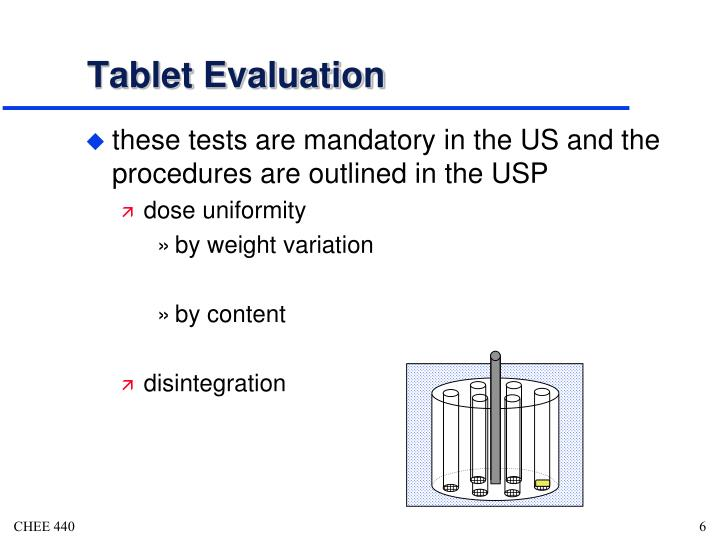 Tablet Evaluation
