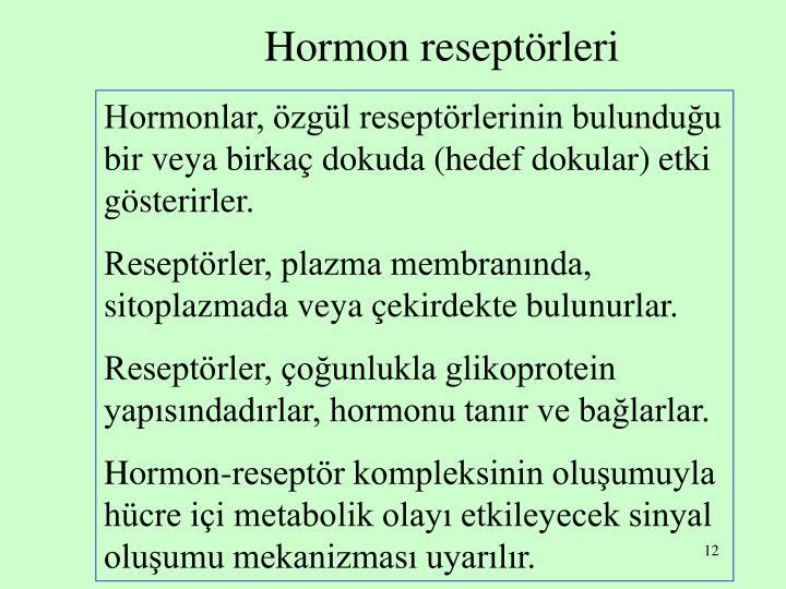 Hormon reseptörleri