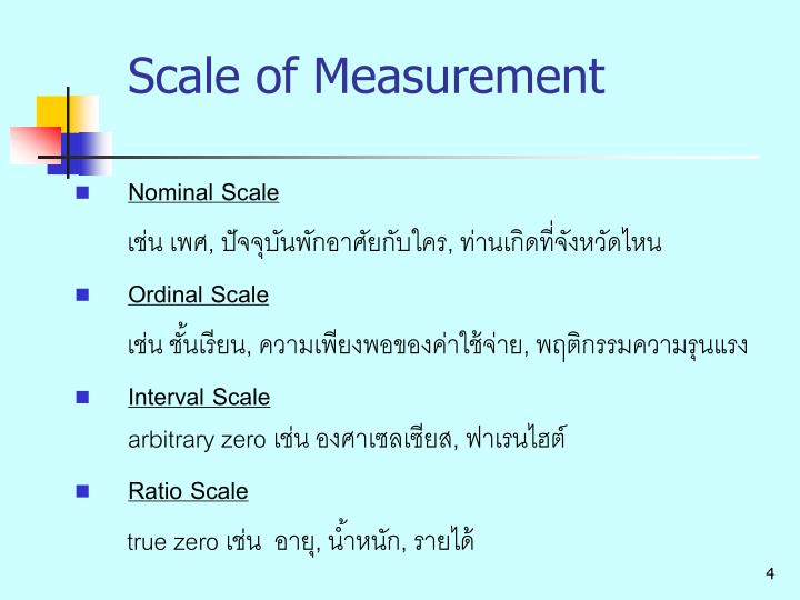 Scale of Measurement