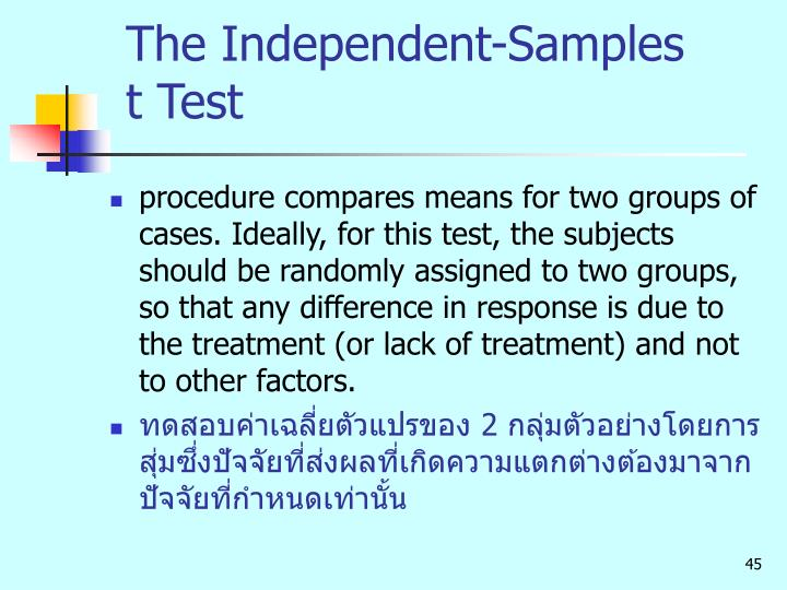 The Independent-Samples