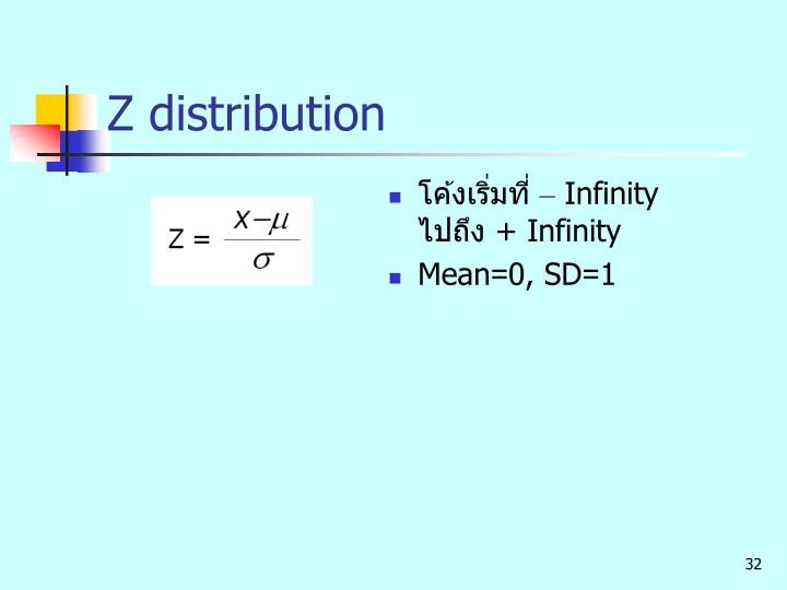 Z distribution