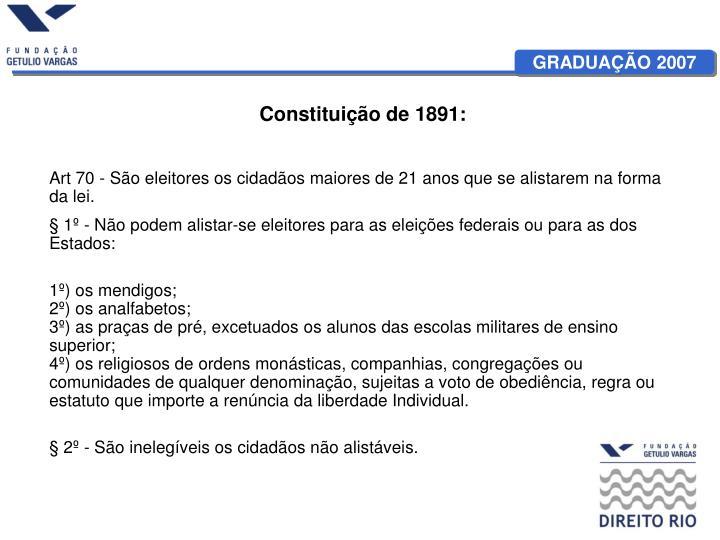 Constituição de 1891: