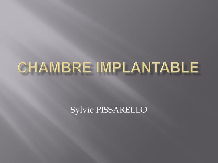 Ppt chambre implantable powerpoint presentation id 952191 - Chambre implantable definition ...