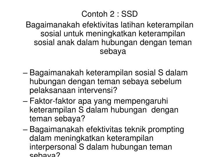Contoh 2 : SSD