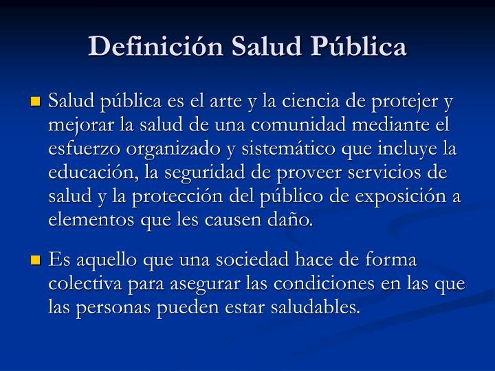 Definición Salud Pública