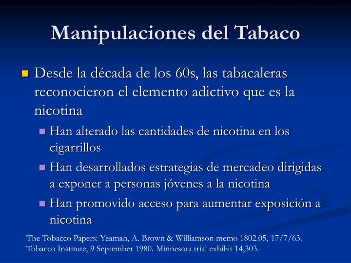 Manipulaciones del Tabaco