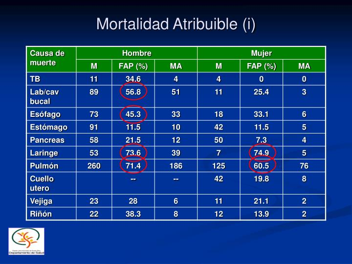 Mortalidad Atribuible (i)