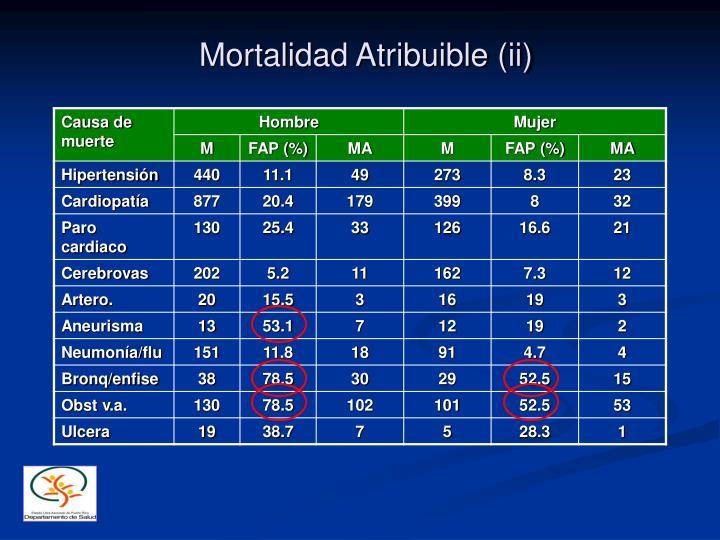 Mortalidad Atribuible (ii)