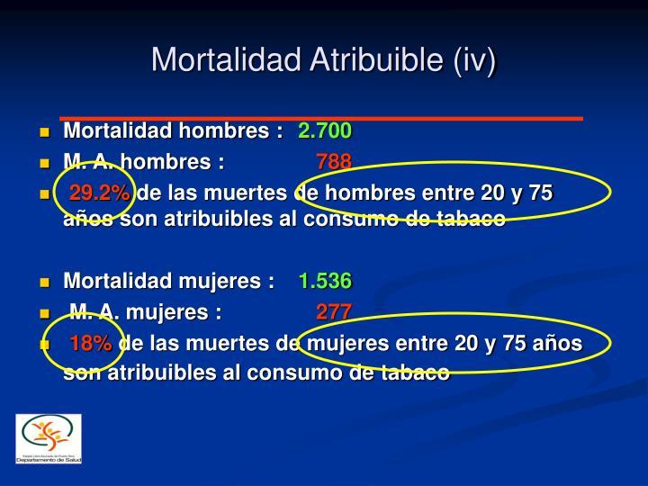 Mortalidad Atribuible