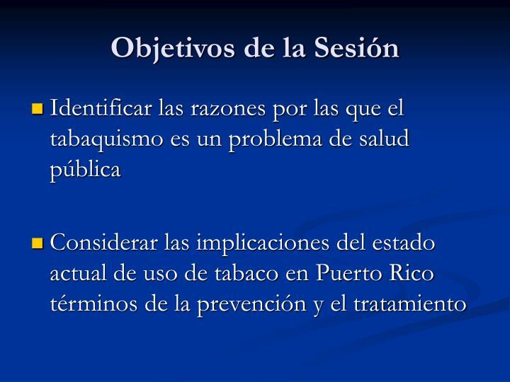 Objetivos de la Sesión