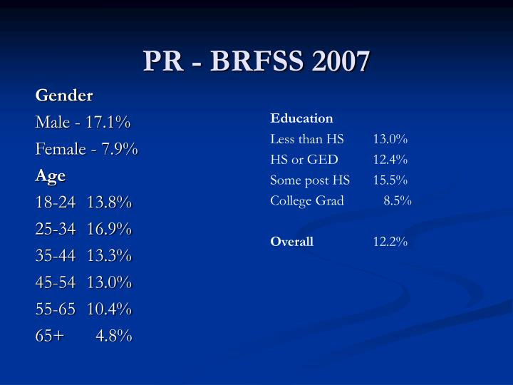 PR - BRFSS 2007