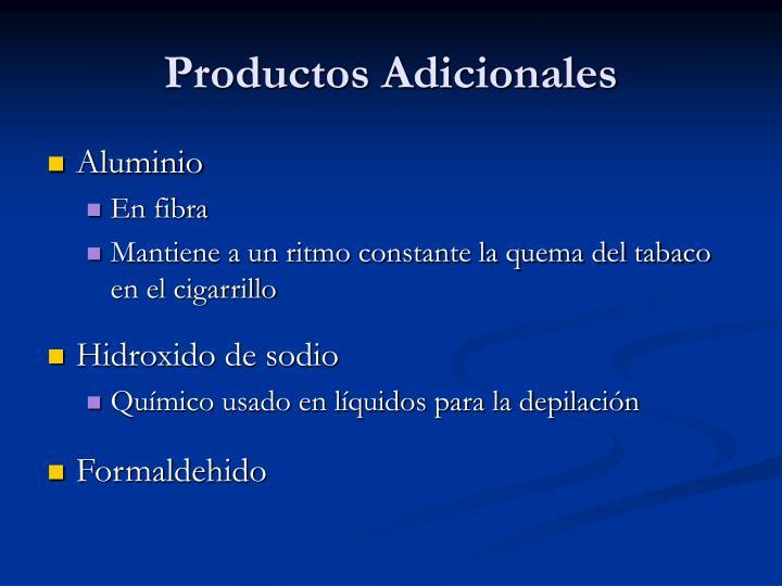 Productos Adicionales