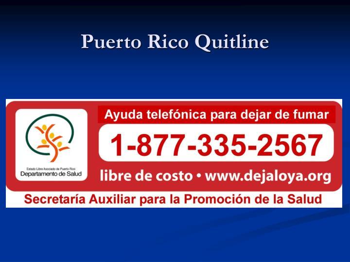 Puerto Rico Quitline