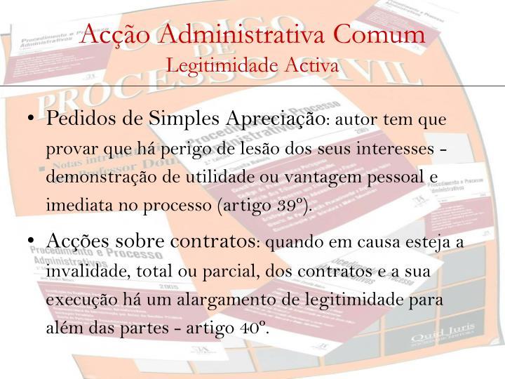 Acção Administrativa Comum