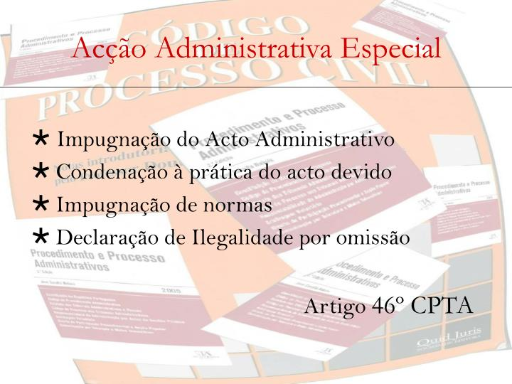 Acção Administrativa Especial