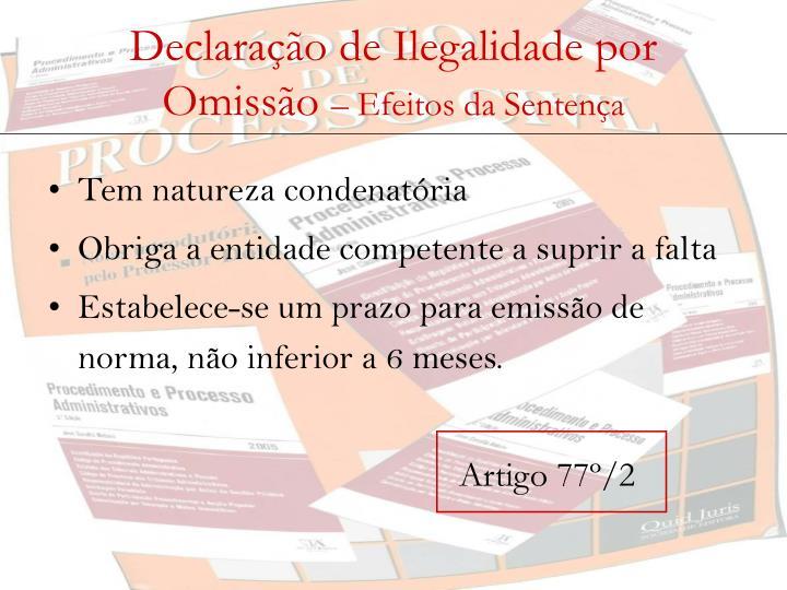 Declaração de Ilegalidade por Omissão