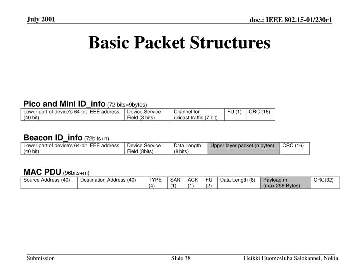 Basic Packet Structures