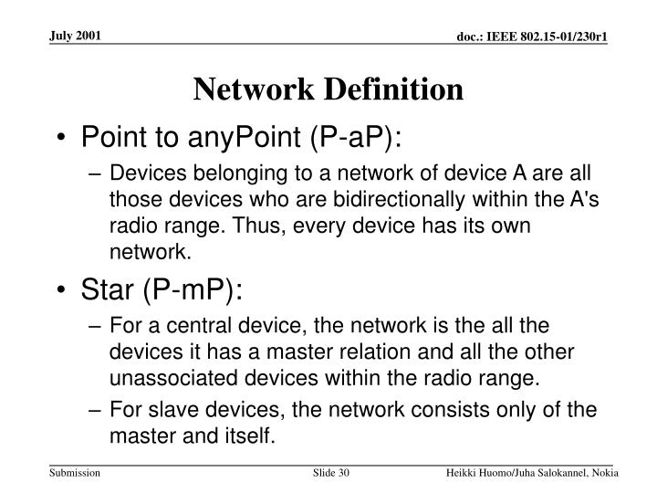 Network Definition