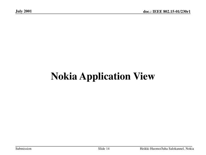 Nokia Application View