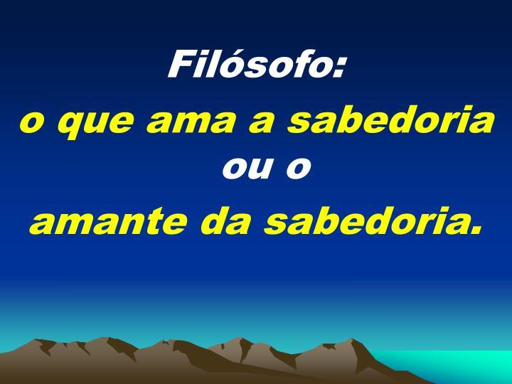 Filsofo: