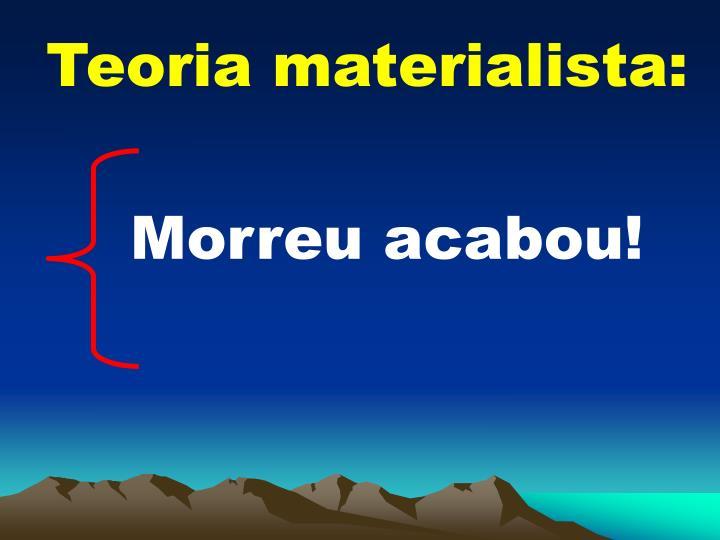 Teoria materialista: