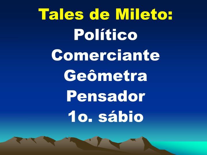 Tales de Mileto: