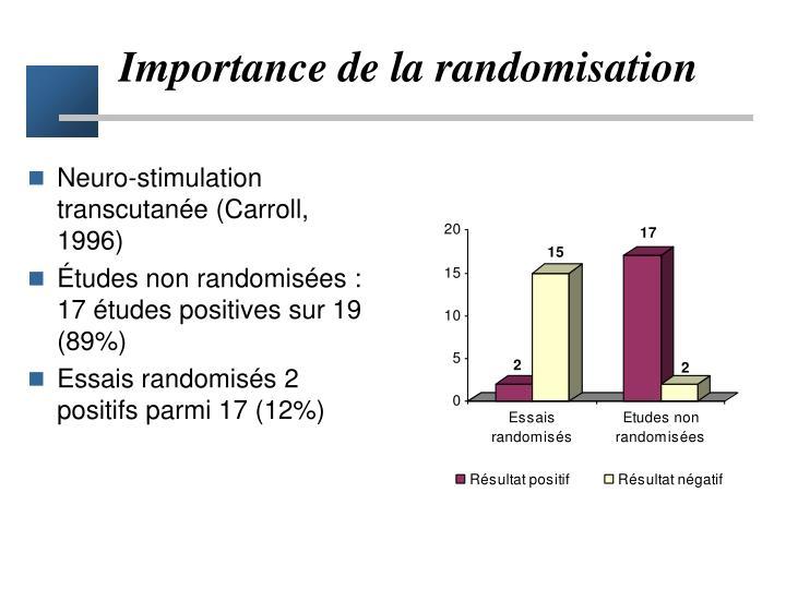 Importance de la randomisation