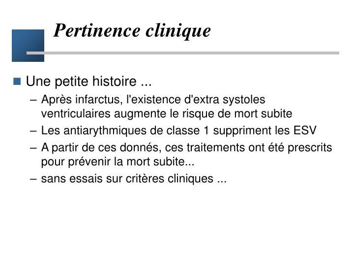 Pertinence clinique