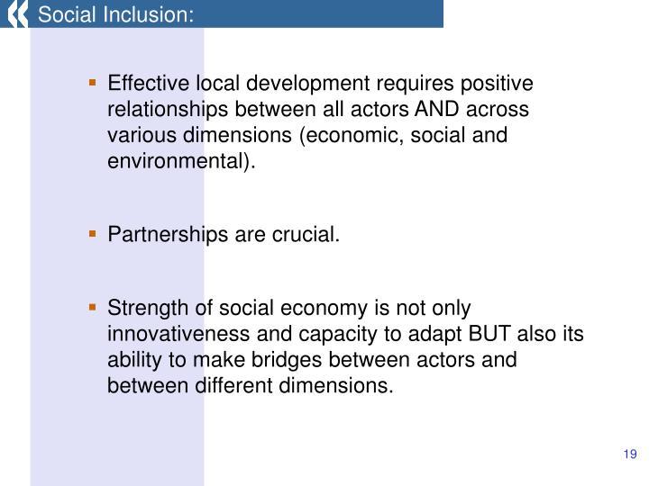 Social Inclusion: