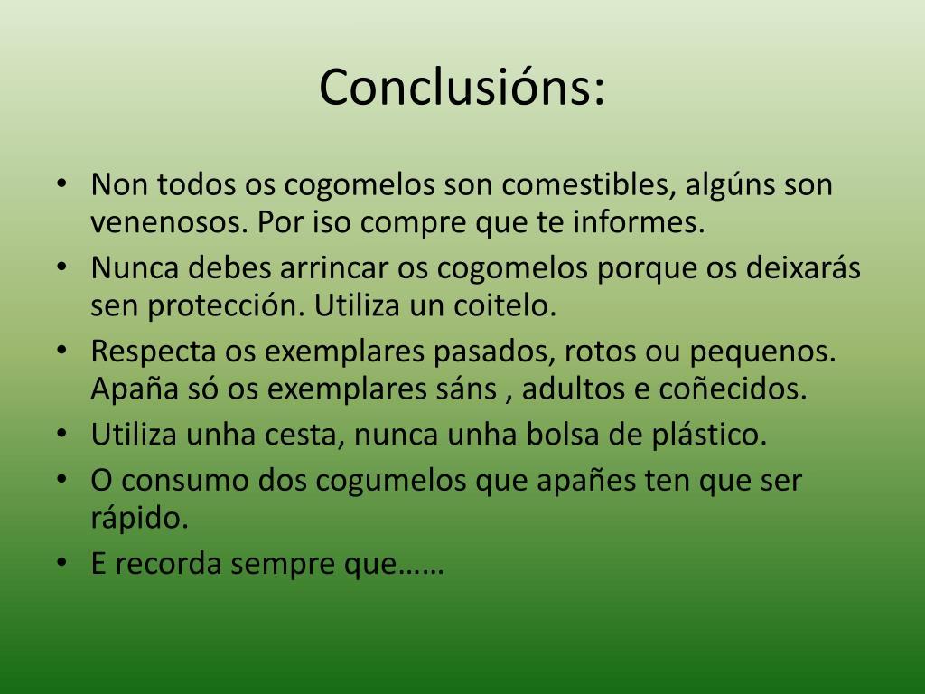 Conclusións: