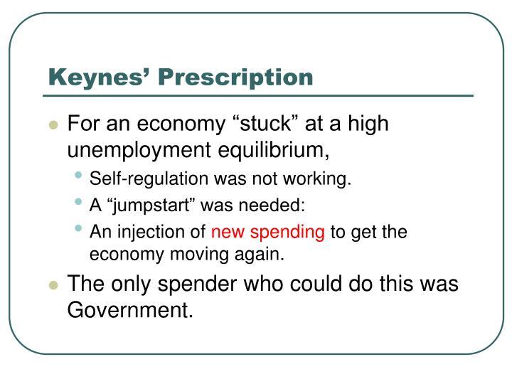 Keynes' Prescription
