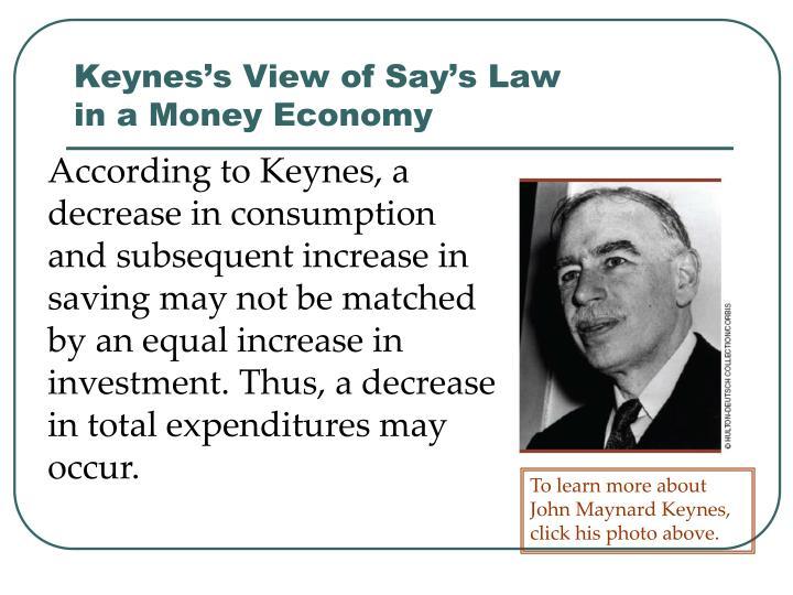 Keynes's View of Say's Law