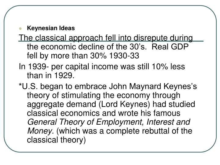 Keynesian Ideas