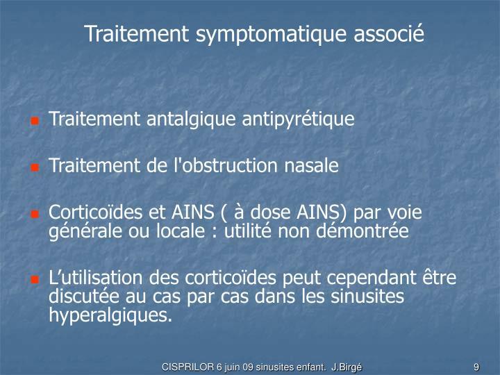 Traitement symptomatique associé